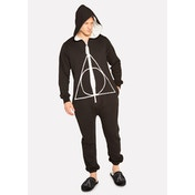 Harry Potter Deathly Hallows Adult Mens Jumpsuit