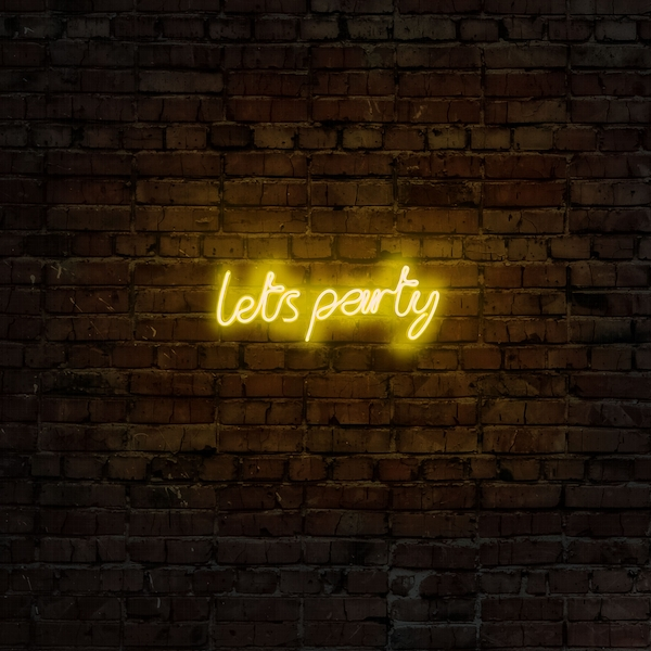 Lets Party - Yellow Yellow Wall Lamp