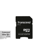 Transcend 128GB Micro SDXC Class 10 UHS-I U3 A1 Flash Card with Adapter