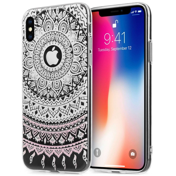 Compare prices with Phone Retailers Comaprison to buy a Apple iPhone X Mandala Printed Gel - White