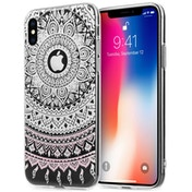 Apple iPhone X Mandala Printed Gel - White