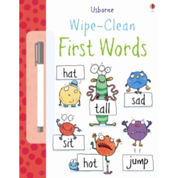 Wipe Clean: First Words by Jessica Greenwell (Paperback, 2013)