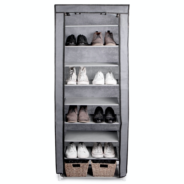 10 Tier Shoe Rack with Canvas Cover | Pukkr