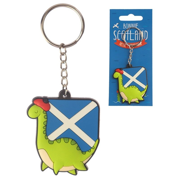 Nessie (Pack Of 6) Novelty PVC Keyring