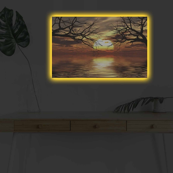 4570DHDACT-145 Multicolor Decorative Led Lighted Canvas Painting