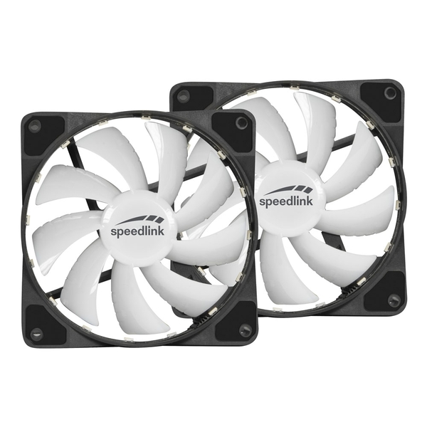 Speedlink Myx LED Fan Kit Two 120mm Fans with RGB Lighting For PC Cases