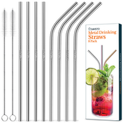 Savisto Reusable Straw Set - Silver