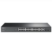 TP-LINK (T1500-28TC) 24-Port 10/100Mbps   4-Port Gigabit Smart Switch, 2 Combo GB SFP Slots UK Plug