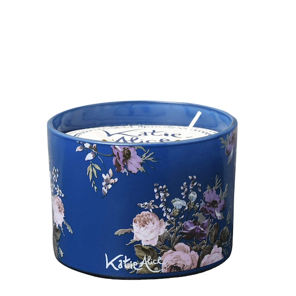 Katie Alice Wild Apricity 2 Wick Wax Filled Candle Pot Angel Flower Scent