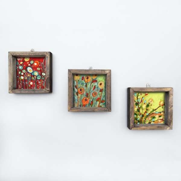 UKZM018 Multicolor Decorative Framed MDF Painting (3 Pieces)