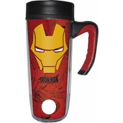 Iron Man (Avengers) Insulated Coffee Flask Cup/Travel Mug With Handle (533ml)