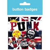 Punk Union Jack Badge Pack