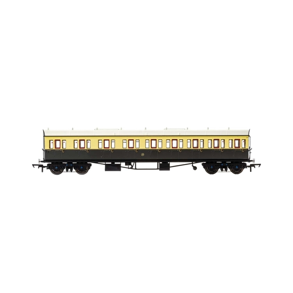 Hornby GWR Collett 57' Bow Ended E131 Nine Compartment Composite (Left Hand) 6360 Era 3 Model Train