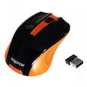 Approx Wireless Optical Mouse, 1200 DPI, Nano USB, Black & Orange