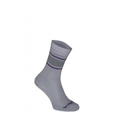 Bridgedale Women's Everyday Outdoors Merino Liner Socks Grey and Purple Small