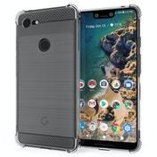 CASEFLEX GOOGLE PIXEL 3 XL CARBON ANTI FALL TPU CASE - CLEAR