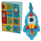 Space Cadet Passport Holder and Luggage Tag Set