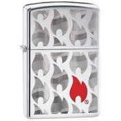Zippo Flames Design High Polish Chrome Windproof Lighter