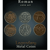 Legendary Metal Coins - Roman Coin Set