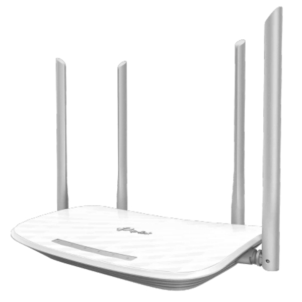 TP-LINK (Archer C50 V4), AC1200 (867 300) Wireless Dual Band 10/100 Cable Router, 4-Port UK Plug