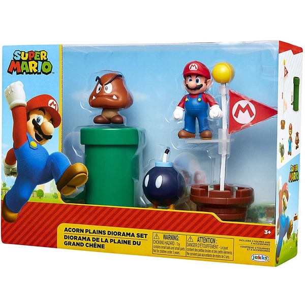 Acorn Plains Diorama (World Of Nintendo Super Mario) Figure Set