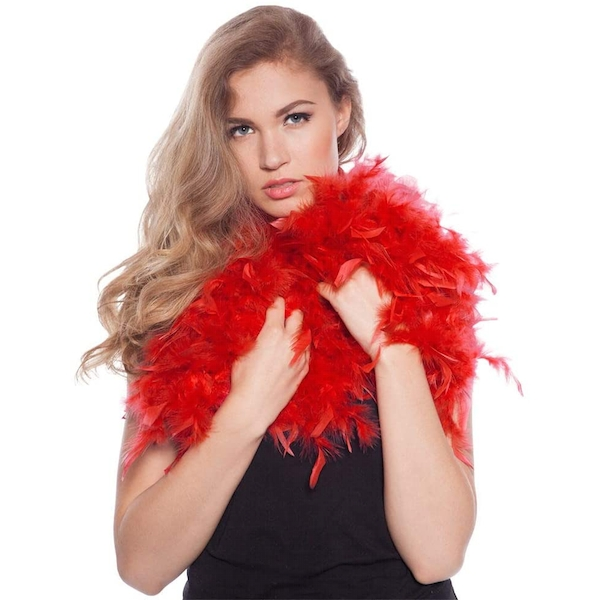 Feather Boa (Red)