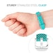 Yousave Activity Tracker Single Strap - Cyan (Small) - Image 4