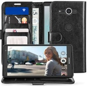 Sony Xperia XZ2 Compact PU Leather ID Stand Wallet - Black