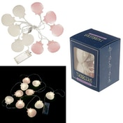 Pink and White Shells Decorative LED Light String