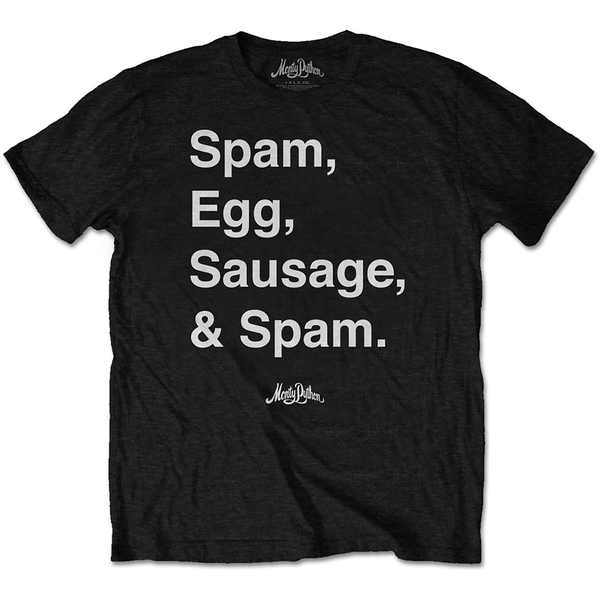 Monty Python - Spam Men's Small T-Shirt - Black