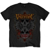 BFMV Winged Skull Blk T Shirt: Large