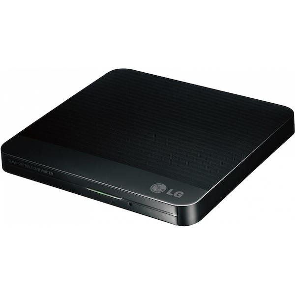 LG 12.7mm Base Ext DVD-RW Black USB 2.0