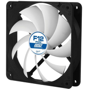 Arctic F12 12cm PWM Case Fan, Black & White, 9 Blades, Fluid Dynamic, 6 Year Warranty