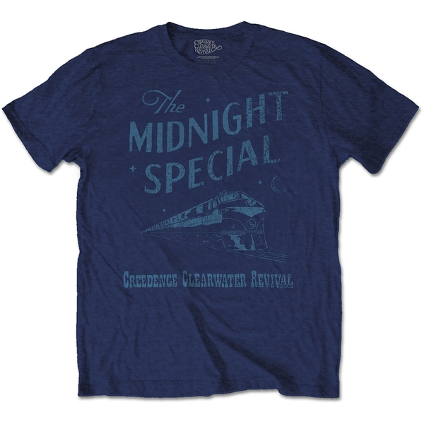 Creedence Clearwater Revival - Midnight Special Unisex Large T-Shirt - Blue