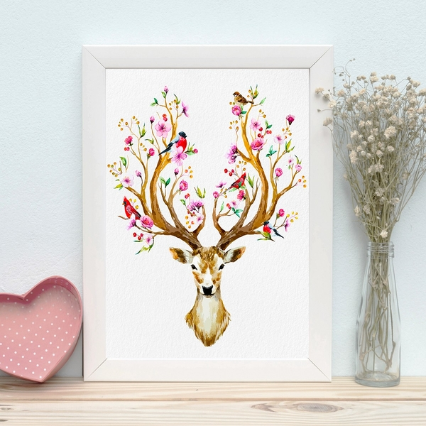 BC465391667 Multicolor Decorative Framed MDF Painting