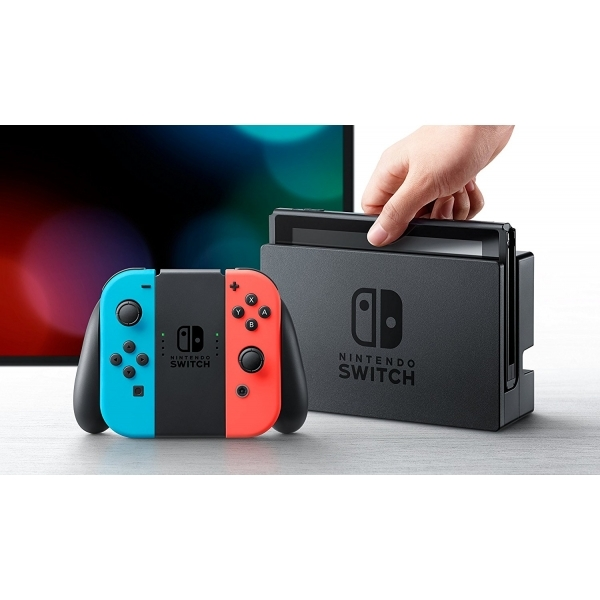 Nintendo Switch Console with Neon Red & Blue Joy-Con Controllers Fortnite Edition - Image 2
