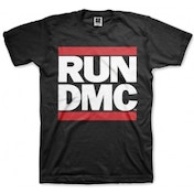 Run DMC Logo Black Mens T Shirt: Large