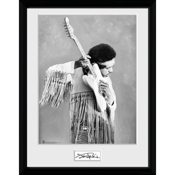Jimi Hendrix Pose Collector Print