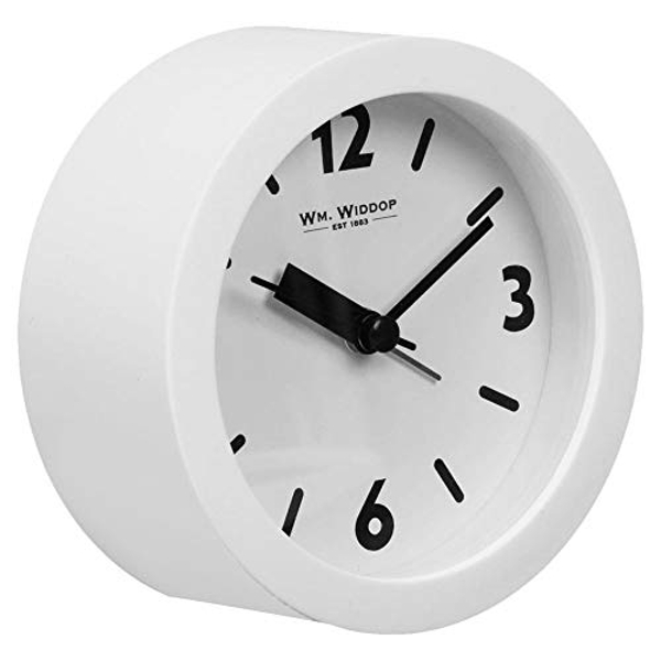 Round Alarm Clock Sweep Movement - White