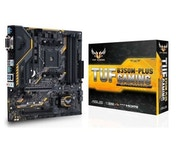 Asus TUF B350M-PLUS, AMD B350, AM4, Micro ATX, 4 DDR4, XFire, VGA, DVI, HDMI, RGB Lighting, 5 Year Warranty