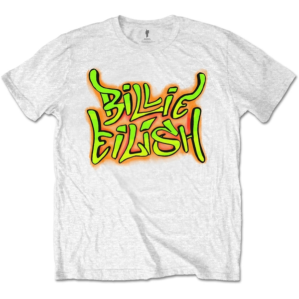 Billie Eilish - Graffiti Unisex Small T-Shirt - White