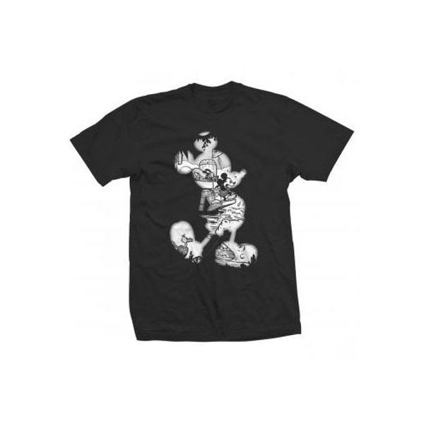 Disney - Mickey Mouse Vintage Infill Unisex Large T-Shirt - Black