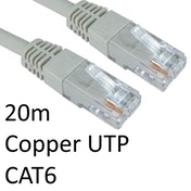 RJ45 (M) to RJ45 (M) CAT6 20m Grey OEM Moulded Boot Copper UTP Network Cable