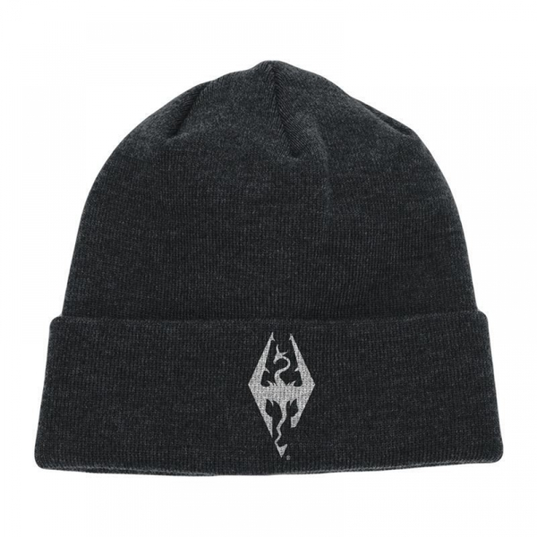 Hey! Stay with us... The Elder Scrolls V Skyrim Dragon Symbol Embroidered  Cuffed Beanie ... 09c62e51c3e3