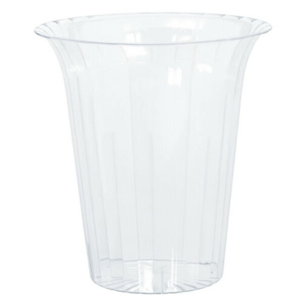 Clear Plastic Flared Cylinder Containers