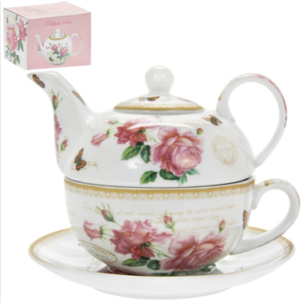 Redoute Rose Tea For One By Lesser & Pavey