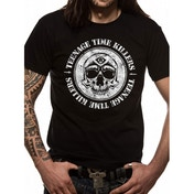 Teenage Time Killers Skull Unisex Small T-Shirt - Black