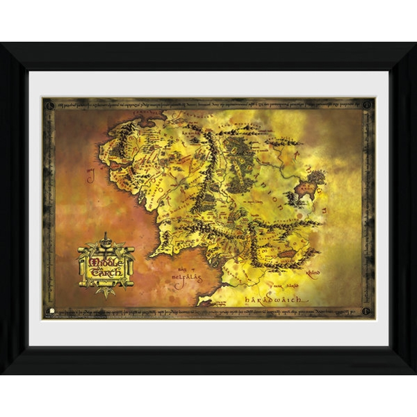 Lord Of The Rings Middle Earth Framed Photographic Print