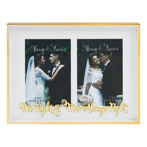 Mr Right Mrs Always Right Double Frame | 4x6