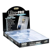 Ultra Pro Platinum 9-Pocket 11-Hole Pages (Box of 100)